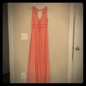 Altar'd State Coral Maxi Dress